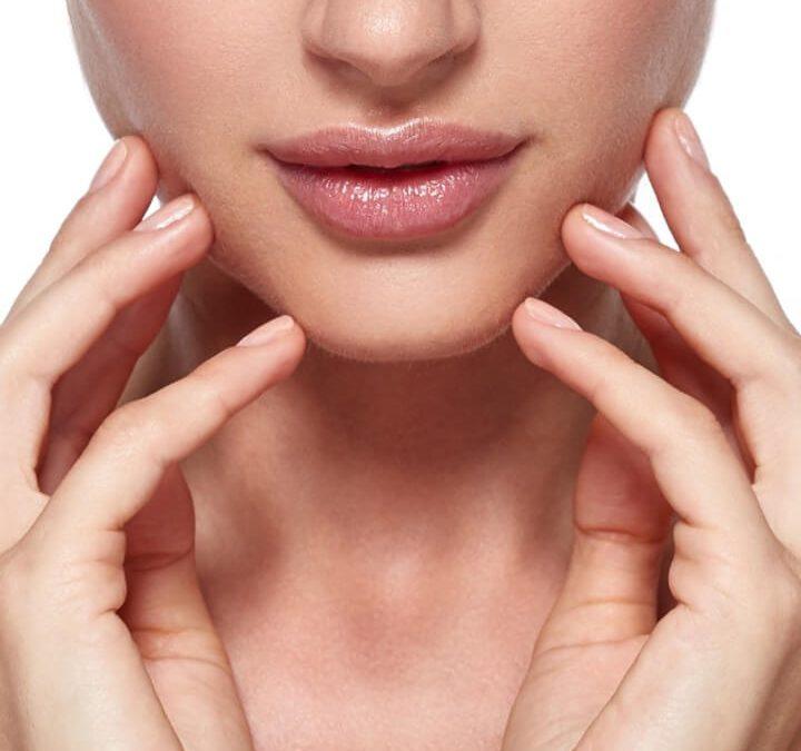 Cheek augmentation and chin lift